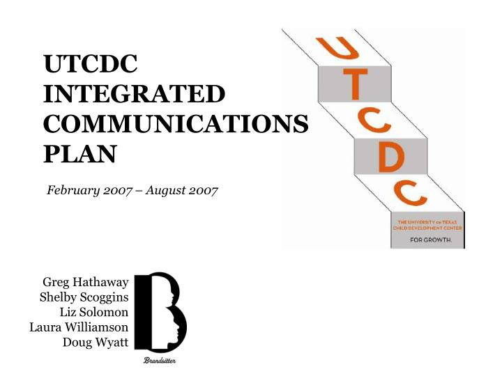 utcdc integrated communications plan n.