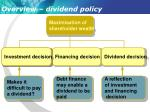 overview dividend policy
