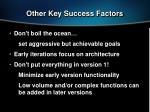 other key success factors