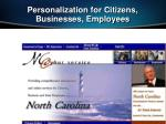 personalization for citizens businesses employees