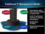 traditional it management model
