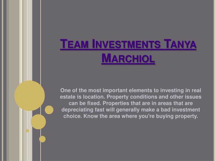 team investments tanya marchiol n.