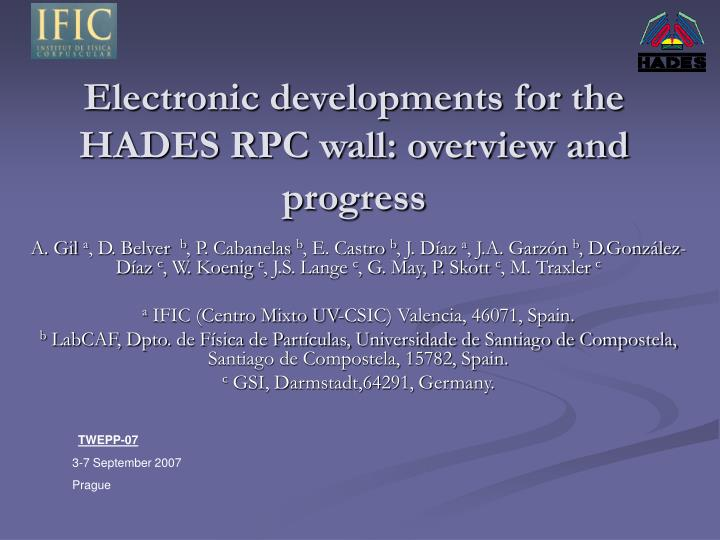 electronic developments for the hades rpc wall overview and progress n.