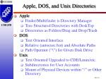 apple dos and unix directories
