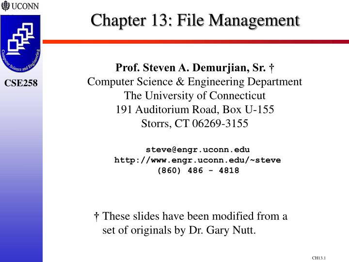 chapter 13 file management n.