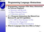 programming language abstractions