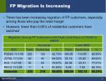 fp migration is increasing