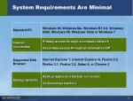 system requirements are minimal