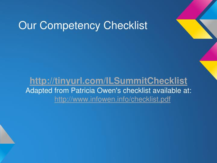 Our Competency Checklist