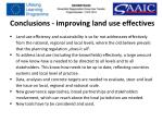 conclusions improving land use effectives