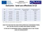 outcome land use effectives in cz