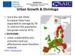 urban growth shrinkage