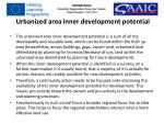 urbanized area inner development potential