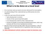 what is to be done on a local level