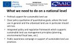 what we need to do on a national level
