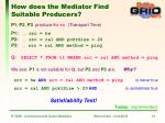 how does the mediator find suitable producers