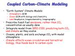 coupled carbon climate modeling
