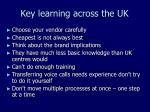 key learning across the uk