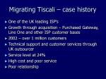 migrating tiscali case history
