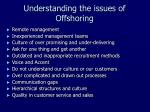 understanding the issues of offshoring