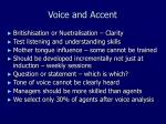 voice and accent