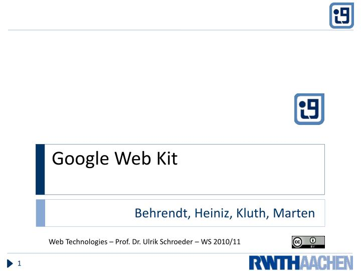 google web kit n.