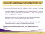 migration and agricultural production ctd1