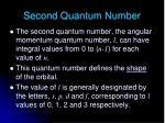 second quantum number