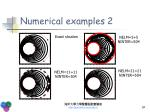 numerical examples 21