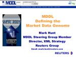 mddl defining the market data genome