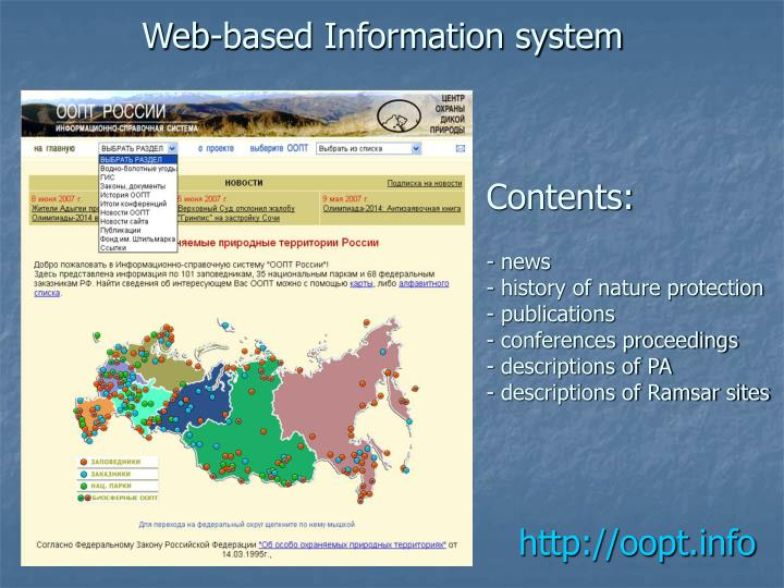 web based information system Full-text paper (pdf): a web-based information system for plant disease forecast based on weather data at high spatial resolution.