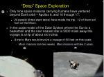 deep space exploration