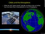orbits and the atmosphere3
