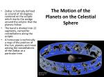 the motion of the planets on the celestial sphere1