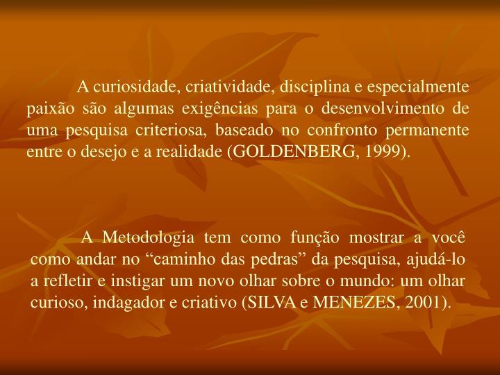 A curiosidade, criatividade, disciplina e especialmente paixão são algumas exigências para o des...