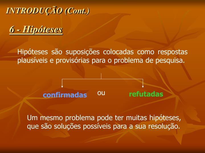 INTRODUÇÃO (Cont.)