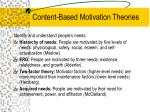 content based motivation theories