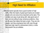 high need for affiliation