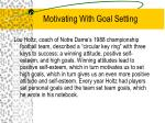 motivating with goal setting