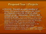 proposed year 1 projects