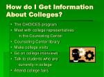 how do i get information about colleges