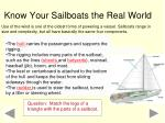 know your sailboats the real world
