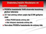diabetes ns lin rezistans ve obezite