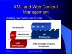 xml and web content management2