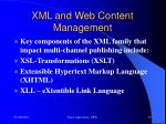 xml and web content management3