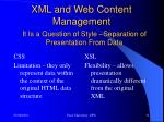 xml and web content management4