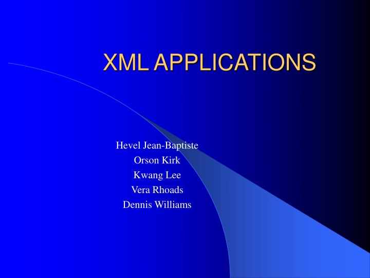 xml applications n.