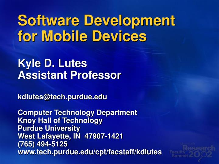software development for mobile devices n.