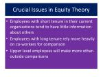 crucial issues in equity theory