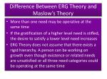 difference between erg theory and maslow s theory